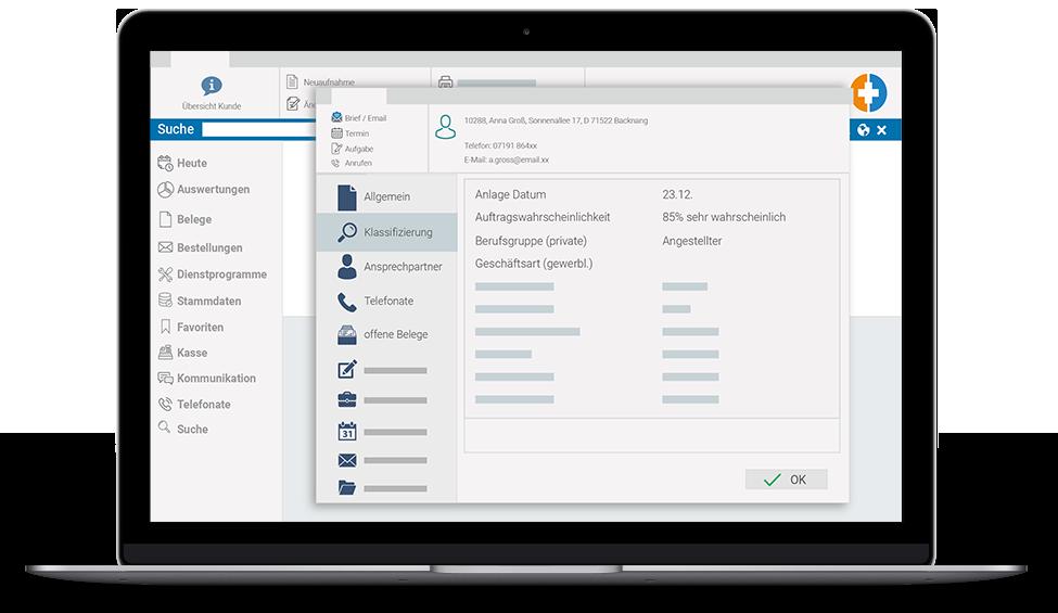 marahplus Warenwirtschaft CRM Kundenauskunft | Sauter + Held Software