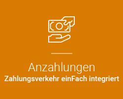 Assistent Anzahlungen - marahplus ERP Warenwirtschaft | Sauter + Held Softwareß