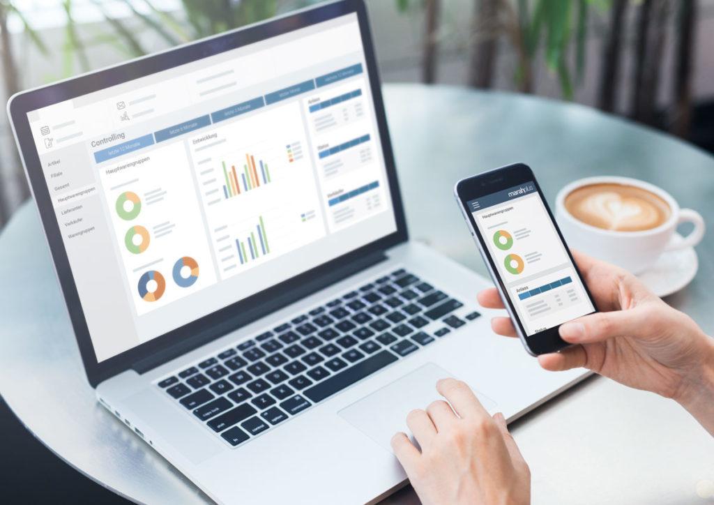Verkäufercockpit - Controlling - marahplus ERP + Warenwirtschaft – Sauter + Held Software