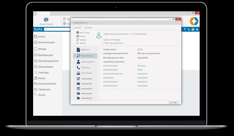 CRM Kundenauskunft marahplus ERP + Warenwirtschaft – Sauter + Held Software