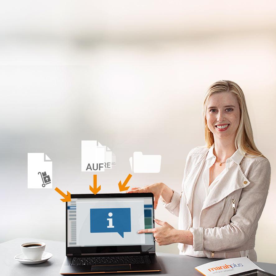Infocenter - Auftragsmappe marahplus ERP + Warenwirtschaft – Sauter + Held Software