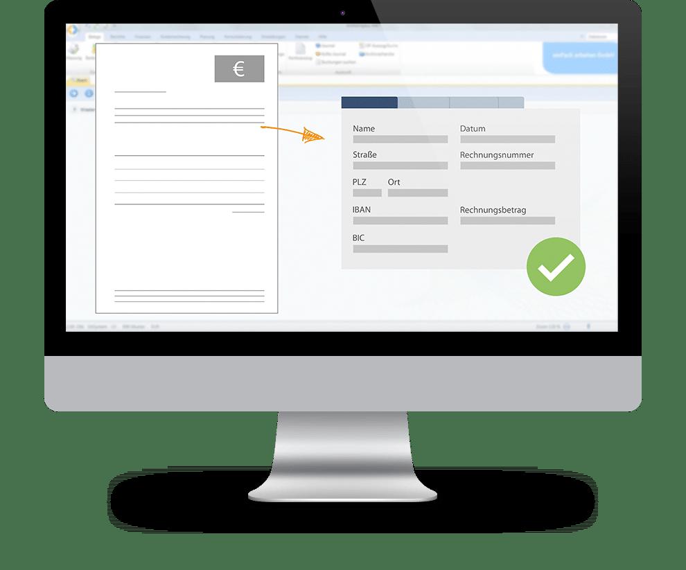 OCR Texterkennung marahplus Warenwirtschaft und Rechnungswesen | Sauter + Held Software