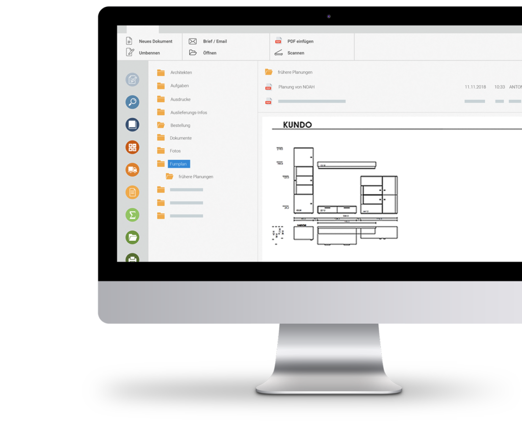 digitale Hängemappe Auftragsbearbeitung - marahplus ERP + Warenwirtschaft – Sauter + Held Software
