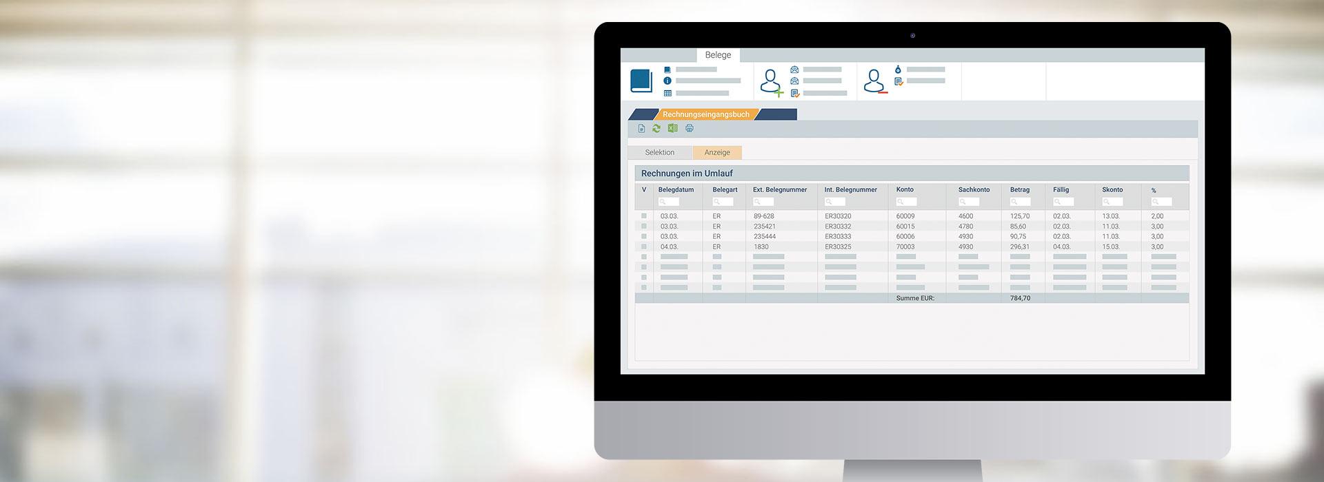 marahplus Rechnungswesen | Sauter + Held Software