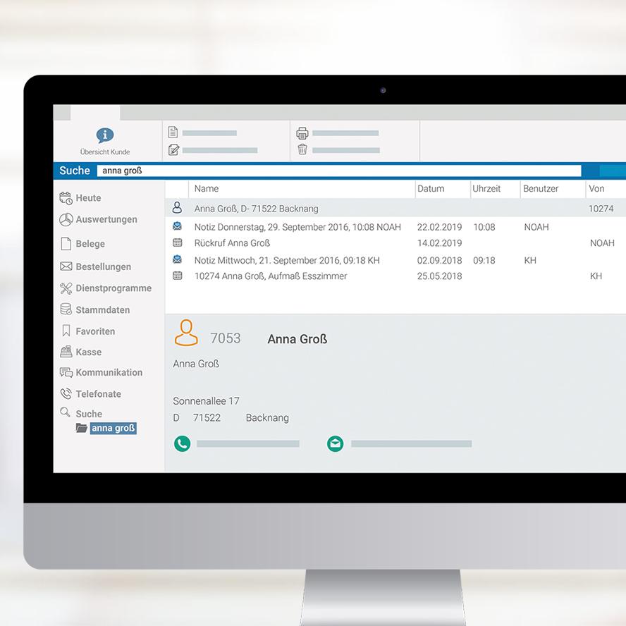 Volltextsuche marahplus ERP + Warenwirtschaft – Sauter + Held Software